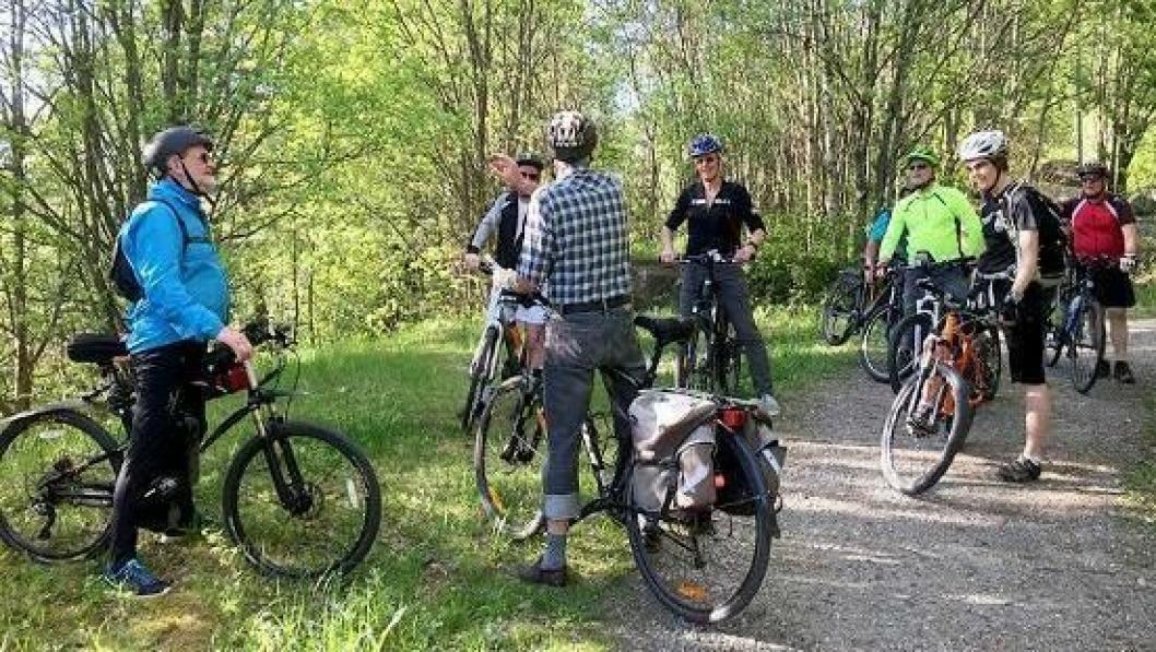 HØSTENS TURER: Fire onsdager i høst kan du bli med på sykkeltur.