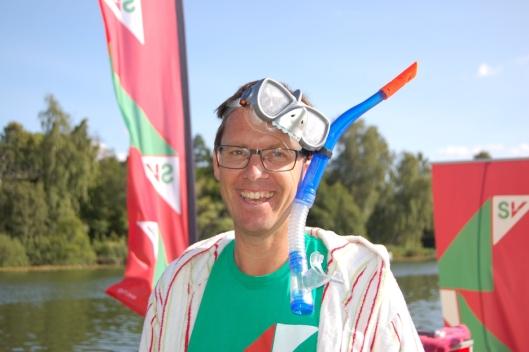 KREATIV POLITIKER: Det er Håkon Arald Gulbrandsen som er drivkraften bak det kreative opptrinnet på brygga som var onsdag 23. august.
