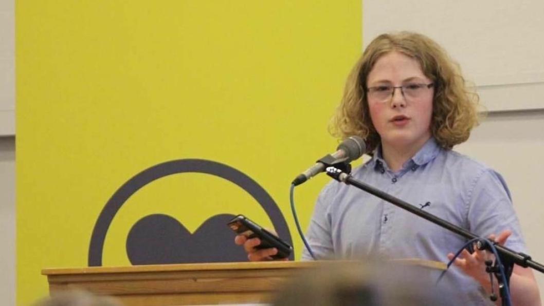 FORNØYD: Simen Bondevik er storfornøyd med KrFs valgresultat ved RAVS.