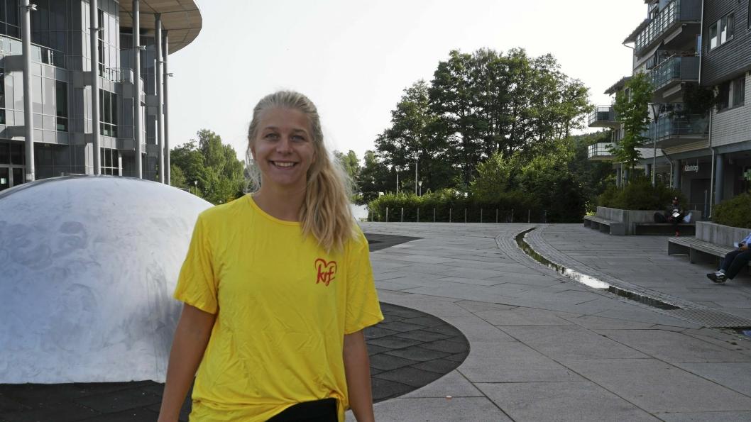 SATSER PÅ SENTRUM: Ida Lindtveit Røse (KrF) håper på et sterkt sentrum.