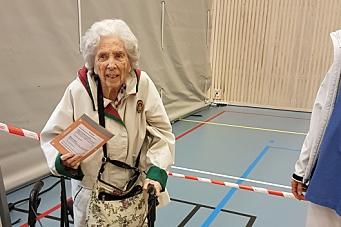 Marit Bjørklund (104) er kommunens eldste velger!
