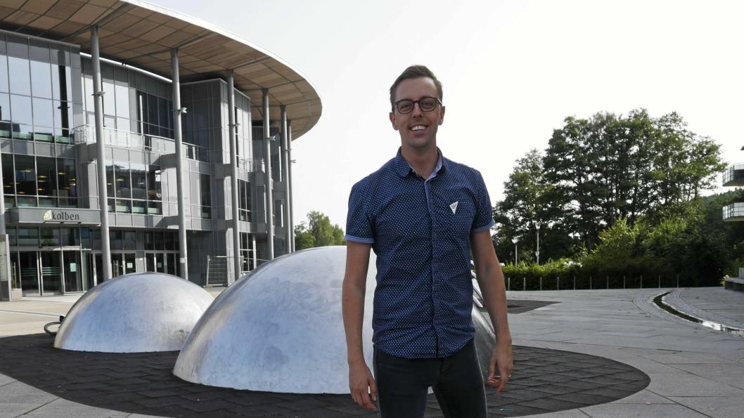 KLAR FOR Å GI ALT: Nicholas Wilkinson er valgt inn som stortingsrepresentant for SV på Akeshusbenken. Han gleder seg til dette.