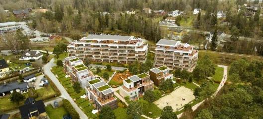 Her skal det bygges 65 leiligheter og 13 rekkehus