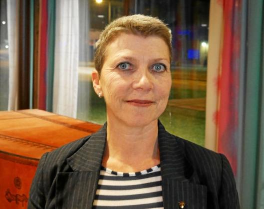 FORNØYD: Kommunestyrerepresentant og UMP-medlem Anne-Beth Skrede (A)..