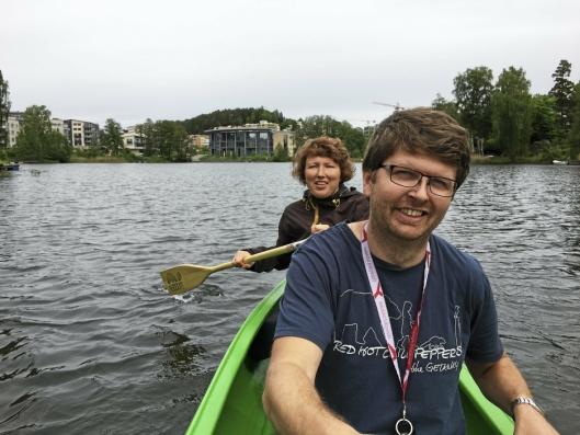 NYTT: BUA har også fått to kanoer man kan låne.