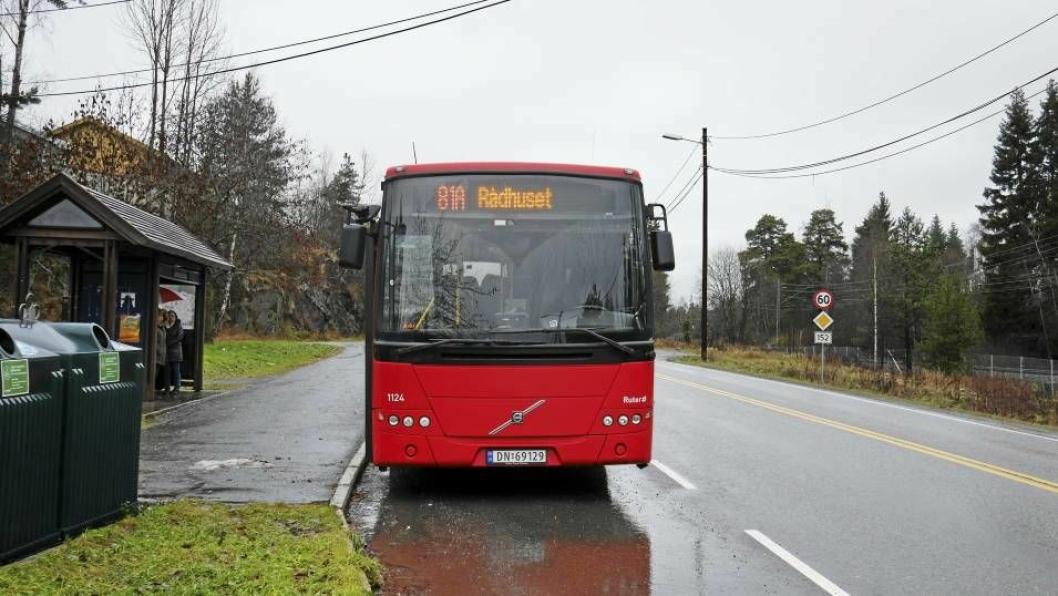 STOPPET HER FØR: Tidligere var Greverud kirke det siste stoppestedet for bussene i Oppegård. Snart blir det en endringer på dette!