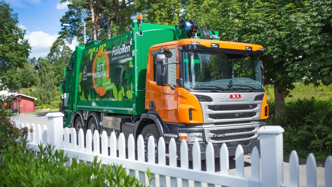 SLIK SER DE UT: Her er de nye biogass-drevne renovasjonsbilene som skal hente avfallet.