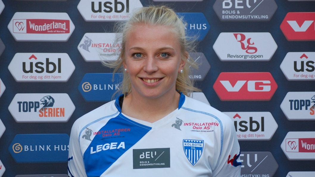 GLEDER SEG TIL MATCH: Kaptein Ina Gausdal er klar for kamp i Nord-Norge i helgen.