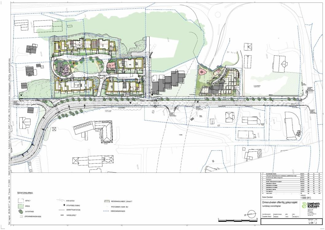 SLIK BLIR DET: Her ser du en oversiktsplan for Ormerudveien. Slik blir det når det står ferdig.