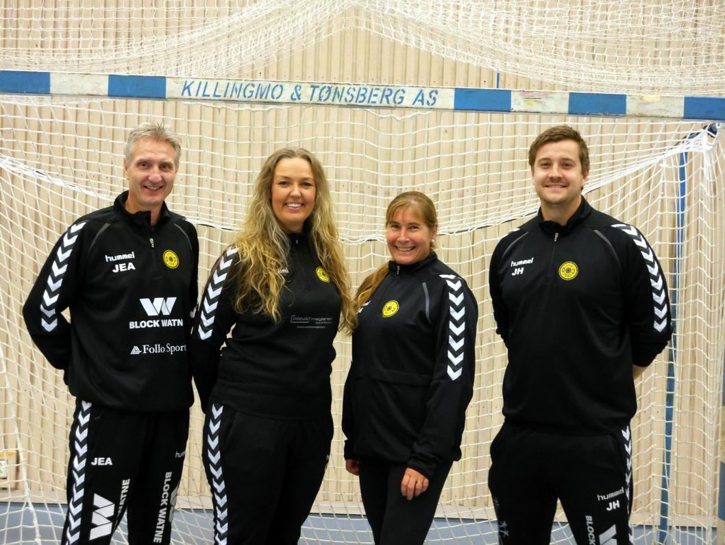 LAGAPPARATET: John Erling Aarmes. Camilla Markholm, Trine Hattestad og Joachim Hattestad leder jentene.