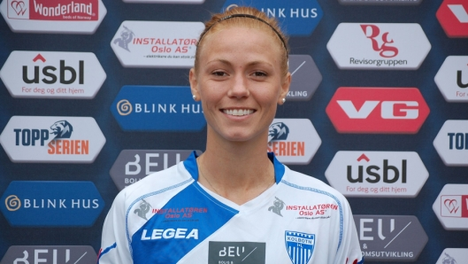 KLAR FOR POENG: Maren Hauge Johansen og resten av Kolbotn er klare for å krige!