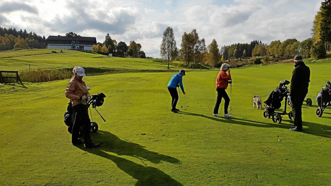 SESONGAVSLUTNING: Slik så det ut da Oppegård Golfklubb avsluttet årets knallsesong med klubbturnering.