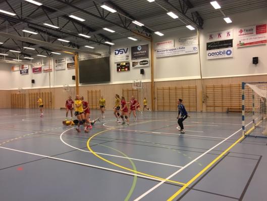 BLE FOR STERKE: Oppegård-damene kjempet hardt, men Follo HK Damer 2 viste hvorfor de er serieledere i Østre Greverud Idrettshall.