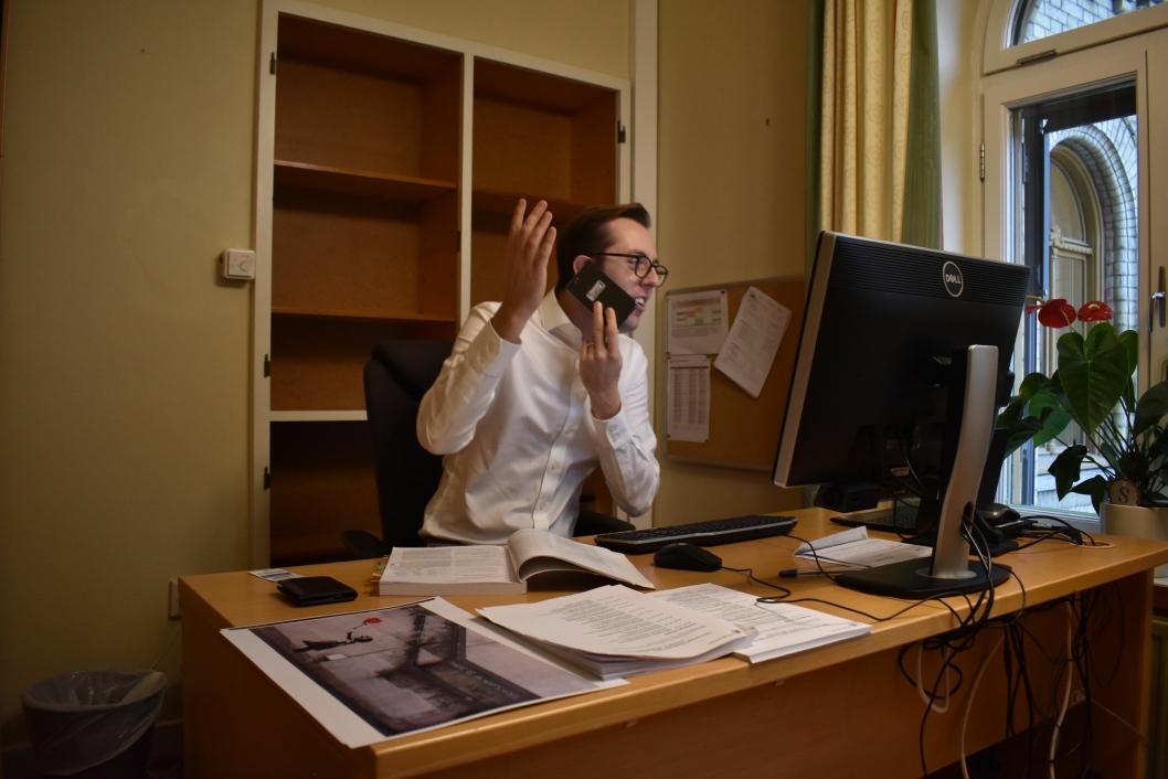 ENGASJERT: Den unge SV-politikeren som nå sitter i Helse- og omsorgskomiteen, oser av engasjement.