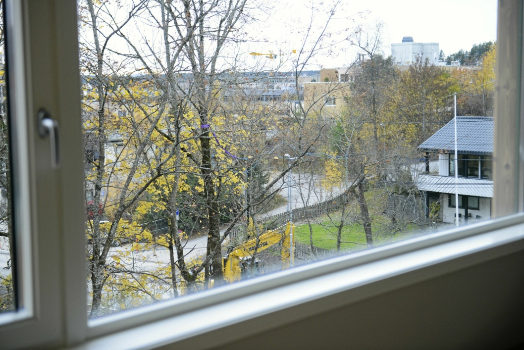 PÅ INNSIDEN: Det blir god utsikt fra leilighetene.