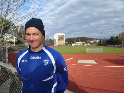 OPTIMISTISK: Trener Knut Slatleim er optimistisk foran helgens match!