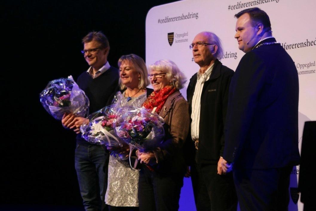 FLOTTE FOLK - FLOTT INNSATS: De nominerte til frivillighetsprisen i fjor. Fra venstre ser du Frode Saastad, Helle Gravli, og May og Bjørn Engebretsen.
