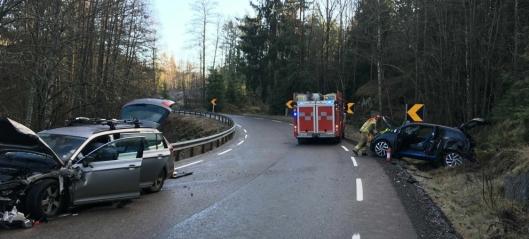 To biler involvert i bilulykke ved Gjersjøen