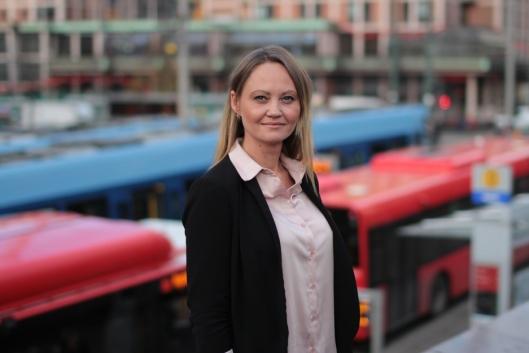 UNDERSØKER: Pressekontakt i Ruter, Cathrine Myhre, sier de undersøker hva som hendte på strekningen tirsdag 14. november.
