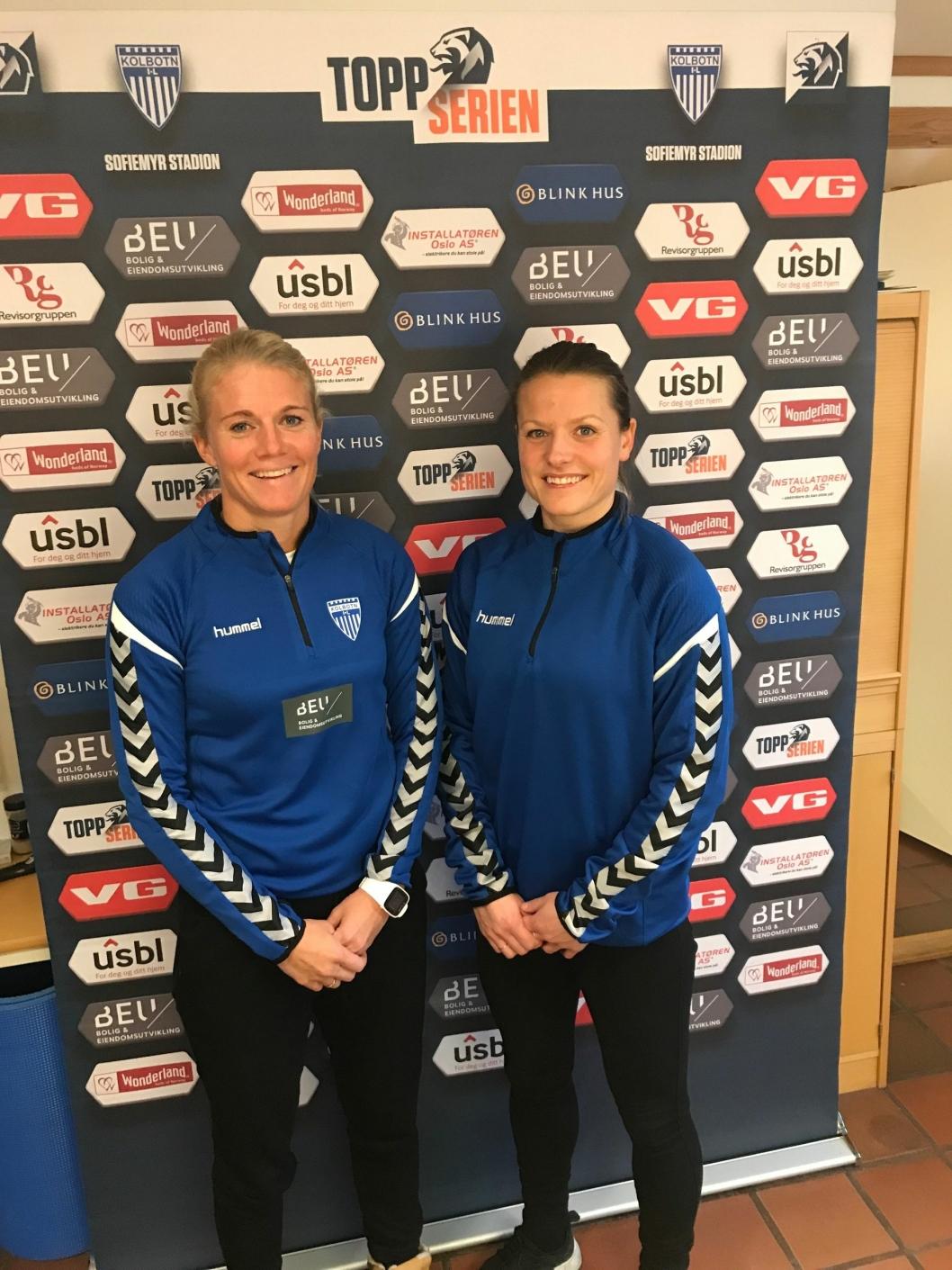 PÅ SAMME TEAM: Solveig Gulbrandsen (t.v.) og Trine Rønning skal utvikle spillerne i toppserielagsstallen sammen.