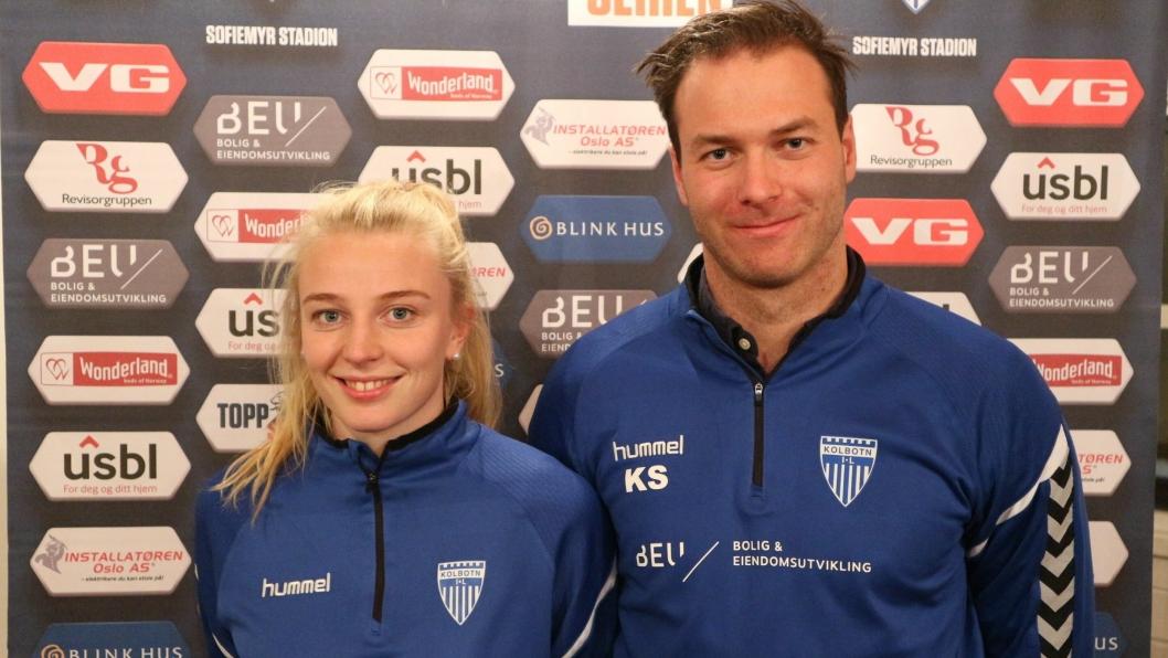 KLARE FOR SESONGEN: Kaptein Ina Gausdal og hovedtrener Knut Slatleim er klare for kamper både hjemme og borte  den kommende toppserie-sesongen. Her er årets kamper!