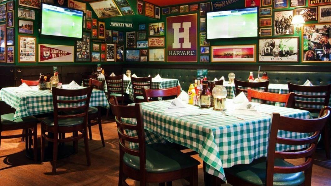 SLIK SER DET UT: O'Learys har en velkjent og særpreget stil, inspirert av Boston. Her ser du fra en annen restaurant i kjeden.