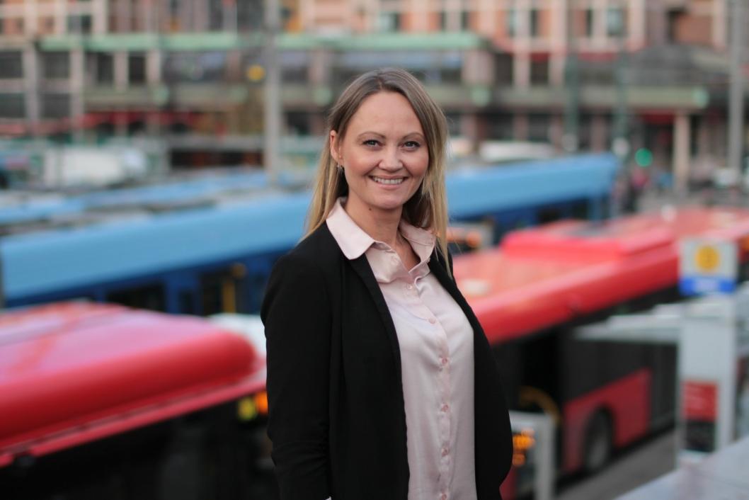 SVARER: Cathrine Myhren, pressekontakt i Ruter.