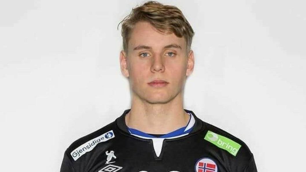 MÅLVAKT: Kolbotn-gutten Kristian Sæverås debuterer i EM i kveldens kamp mot Sverige.