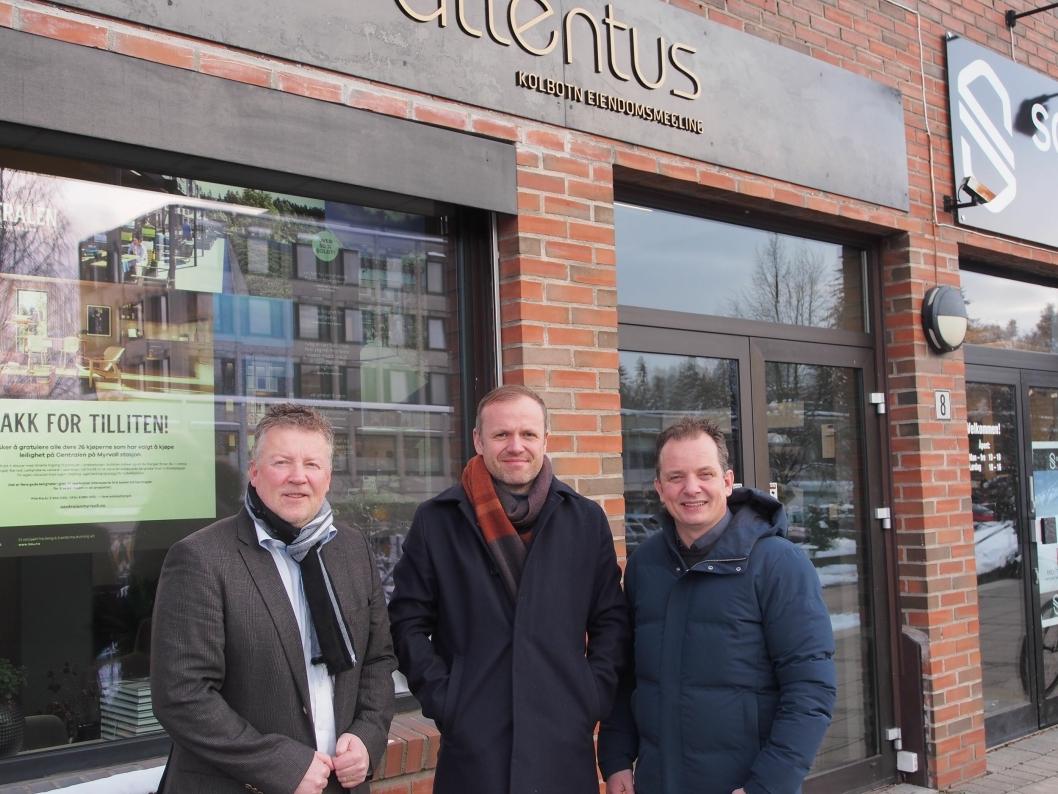 KLARE FOR ET BRA ÅR: ATTENTUS melder om et fortsatt ekstremt selektivt marked. f.v. Per Edmund Mordt, Kjell Ove Loeshagen og Bent André Norderhaug.