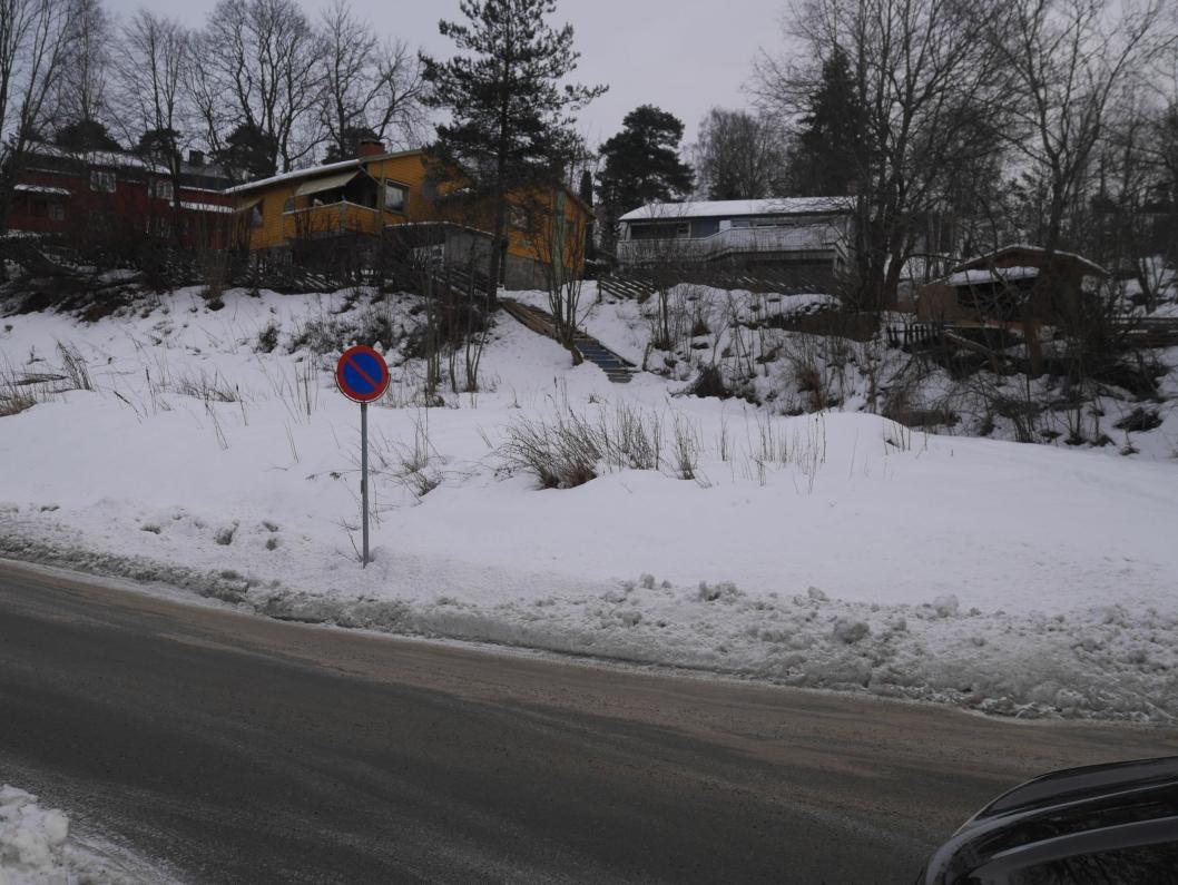 SKAL SELGES: I Sætreskogveien 1 ligger det en tomt for salg. I samme område skal det også selges i nummer 2, 6 og 10.