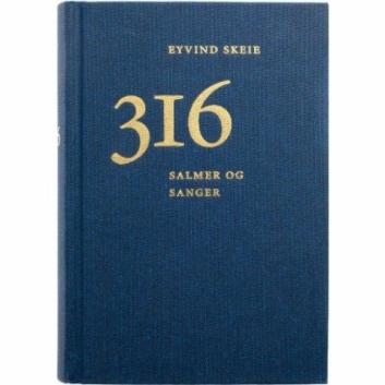 """SALMEBOK: Slik ser hans salmebok ut, """"316 salmer og sanger""""."""