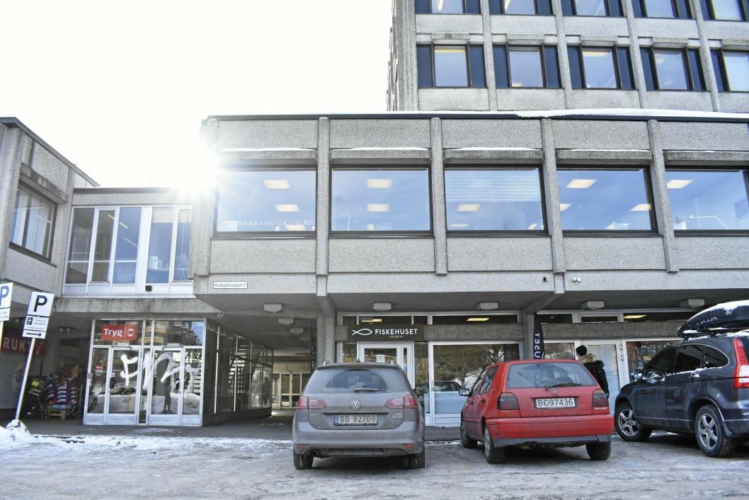 HOLDER TIL HER: Gullfugl har rede i Sentrumsbygget på Kolbotn.