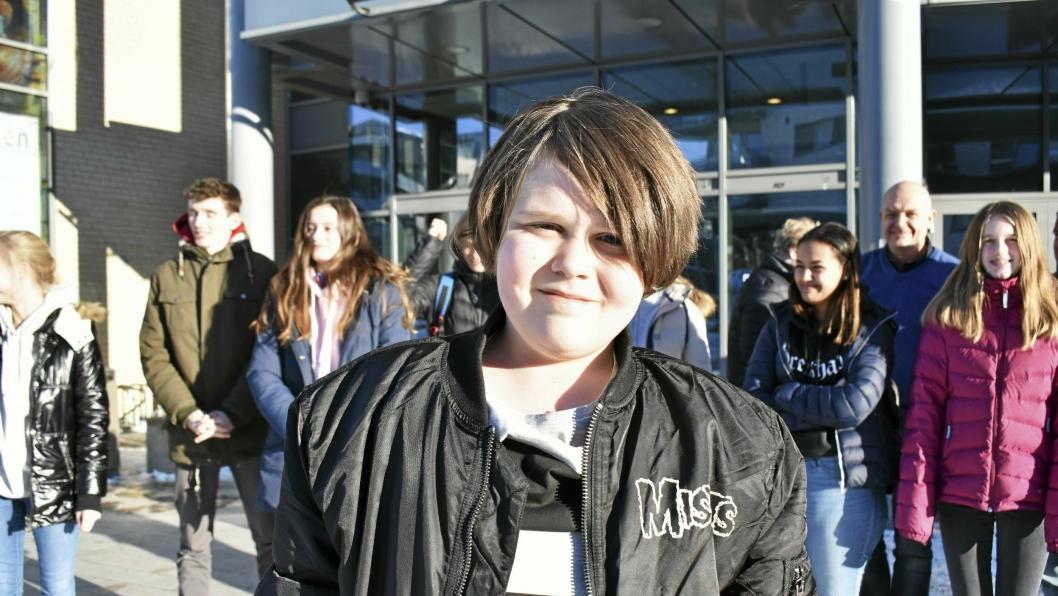 MODIG: En av de yngste deltakerne har håpet om å komme videre til fylkesmønstringen.