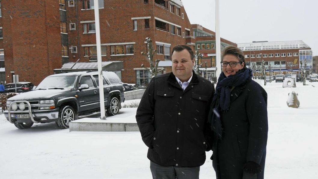 SAMARBEIDER OM SAMKJØRINGEN: Ordfører Hanne Opdan i Ski og ordfører Thomas Sjøvold i Oppegård jobber sammen mot sammenslåingen.