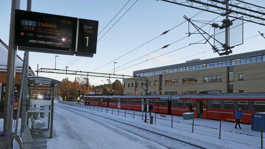 IKKE ALLTID I RUTE: Å være togpendler til og fra Oppegård er til tider utfordrende.
