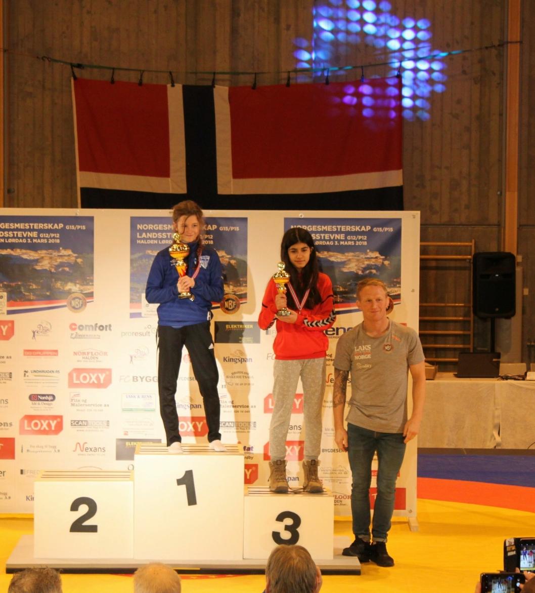MESTERLIG: Hedda Ophaug ble Norgesmester i klassen P15 39 kilo.