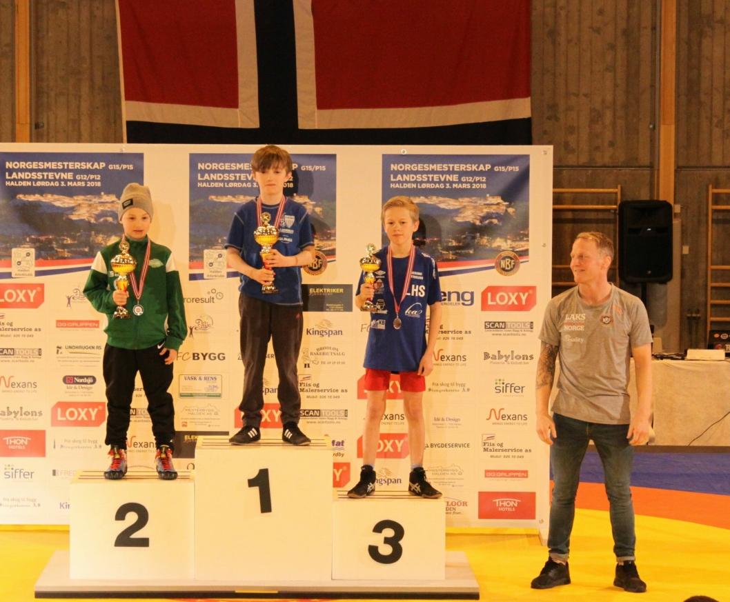 VANT: Martin Aak gikk til topps i klassen G12 30 kilo.