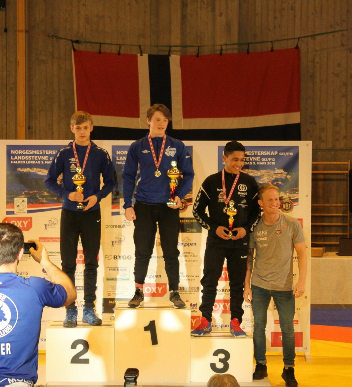VISTE GOD BRYTING: Marius Dalsbotten ble Norgesmester i 62-kilosklassen!