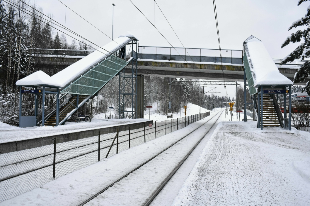 MANGE PROBLEMER: Denne vinteren har vært kronglete for pendlerne på Østfoldbanen, og en hodepine for NSB.