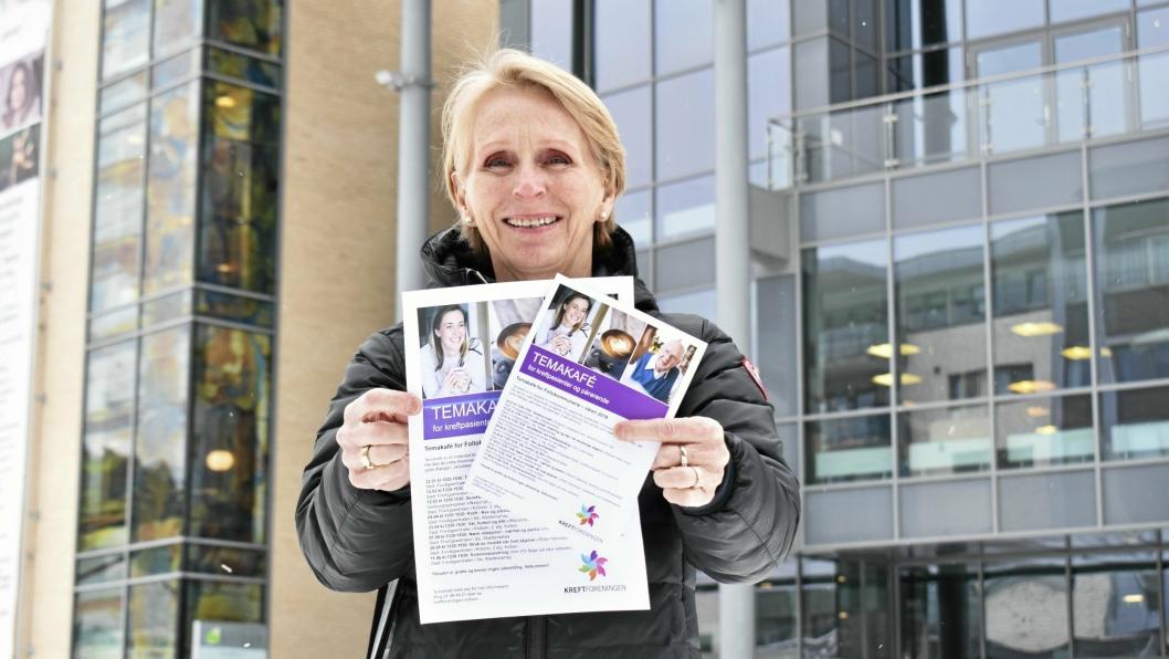 KOM TIL KOLBEN: Ann-Kristin Holen organiserer temakafeene på Kolben, og inviterer til Kolbotns første temakafé for kreftrammede og pårørende mandag 12. mars - samme dag som russen går for Krafttak mot kreft.