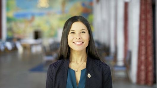 KOLLEKTIVFORKJEMPER: Lan Marie Nguyen Berg, byråd for miljø og samferdsel i Oslo er fra Oppegård, og en forkjemper for mer kollektivtransport.