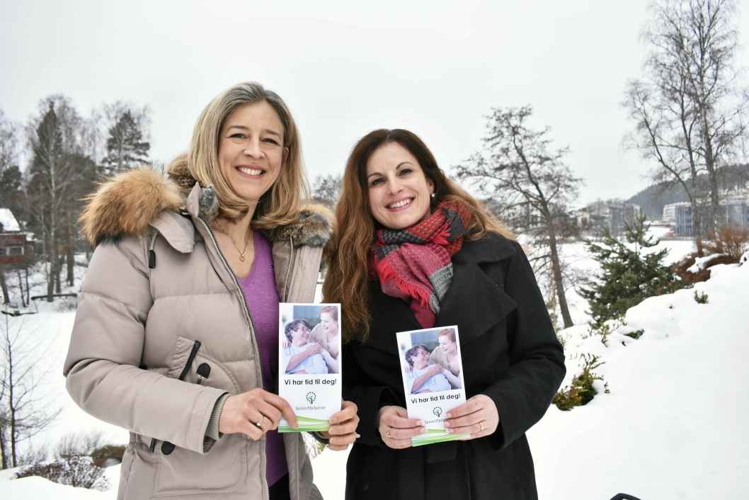SENIORHJELPERNE: Anne Grete Meyer Eriksen og Esther Skiri.