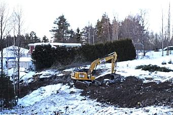 Arbeidet med tilbringerveien til Taraldrud er i gang