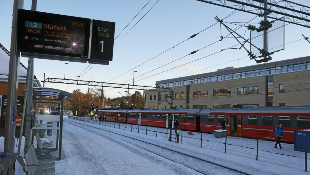 STADIG FLERE PASSASJERER: Mange problemer denne vinteren til tross, antall passasjerer øker på lokaltogene våre.