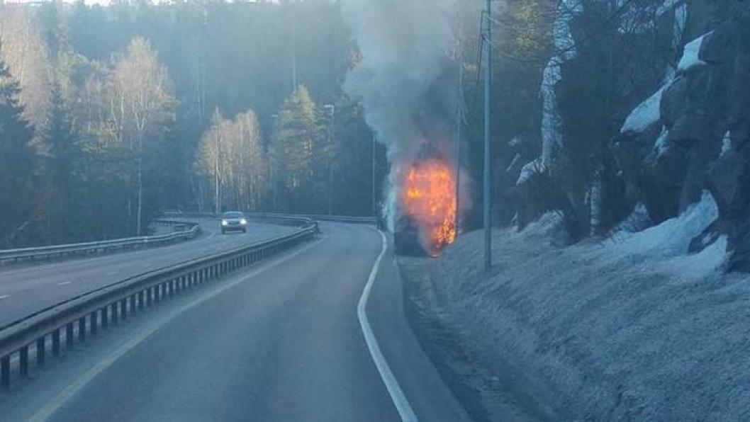 MOTORROMMET: Det er antydet at brannen startet i motorrommet.
