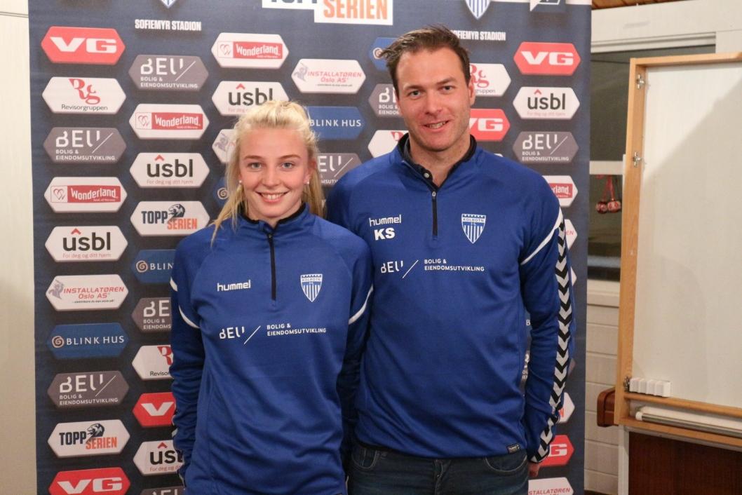 TRENEREN OG KAPTEINEN: De skal kjempe sammen i år også, kaptein Ina Gausdal og trener Knut Slatleim.