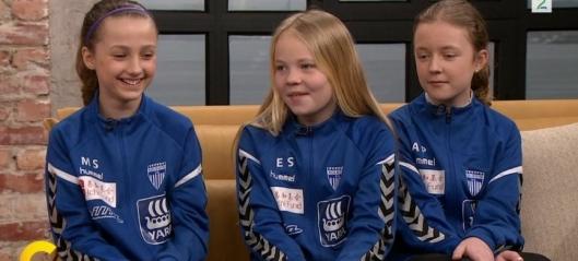 Fotballjentene fra Kolbotn gjestet God Morgen Norge