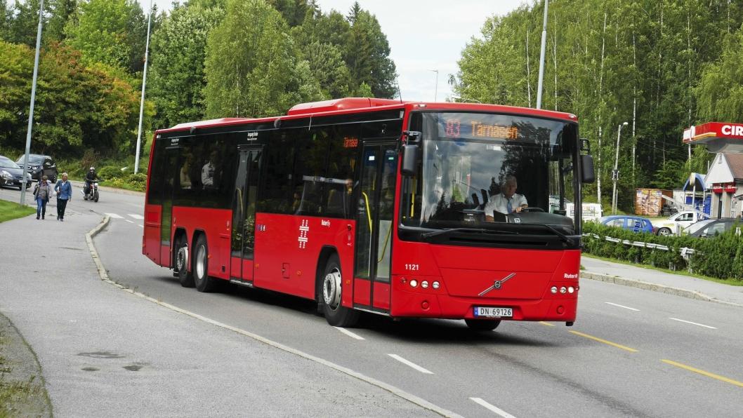MULIG STREIK: Alle busslinjene til og fra Oppegård kan stå stille dersom det blir streik på søndag.