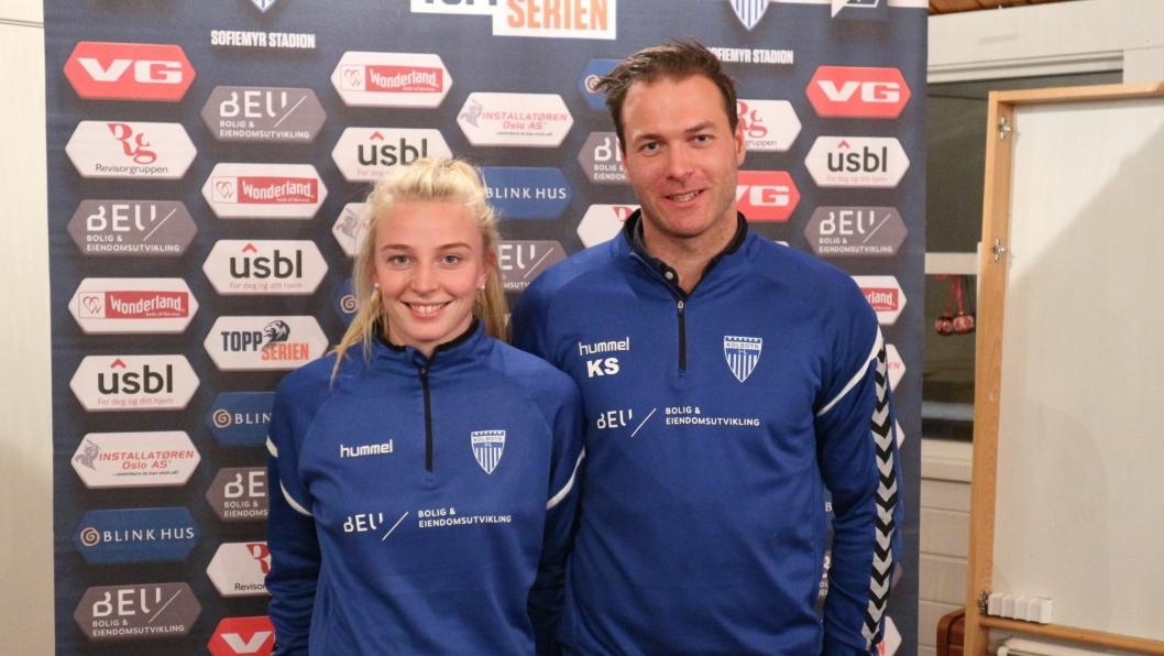 KLARE: Kaptein Ina Gausdal og trener Knut Slatleim er klare for å møte Vålerenga på Intility stadion i dag.