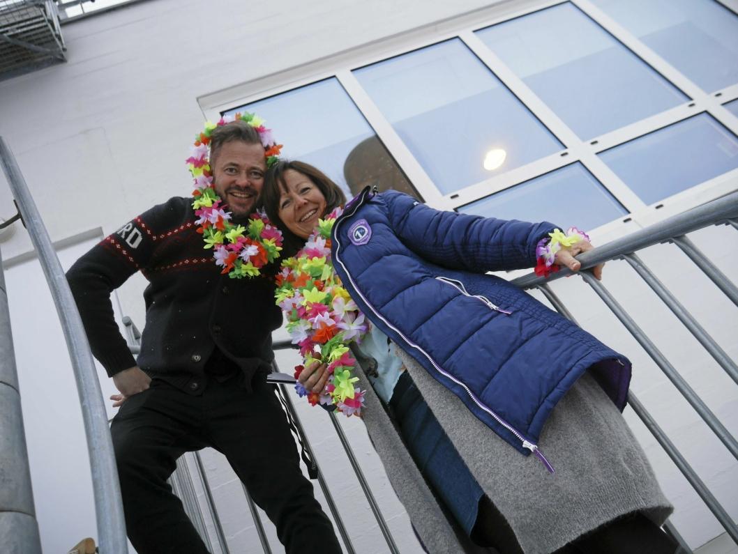 KLARE FOR Å LAGE RAI-RAI OG LIV: Elisabeth Bøvold og Jesper Edvardsen håper på trekke fulle hus den 2. juni under sitt sommershow i syd.